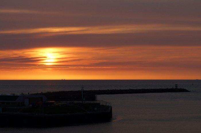 Sonnenuntergang in Scheveningen