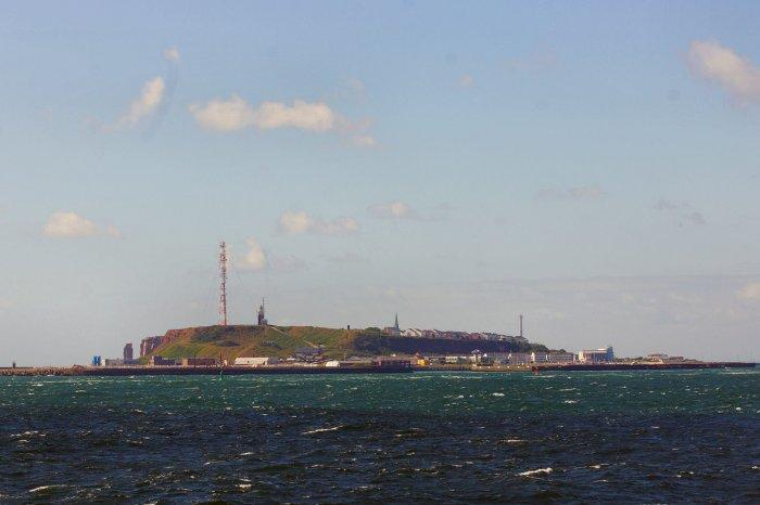 Letzter Blick auf Helgoland