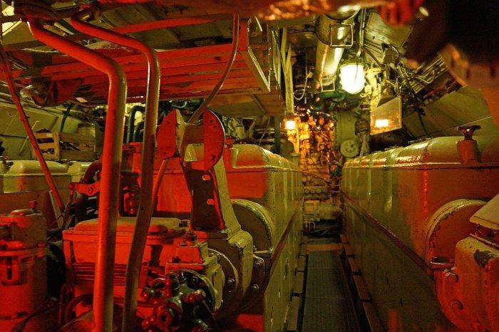 Maschinenraum vom U-Boot B-821
