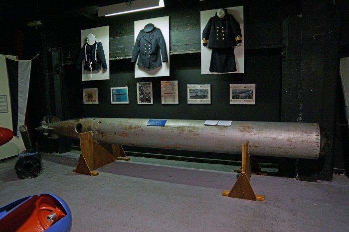 Torpedo im Marinemuseum Zeebrügge