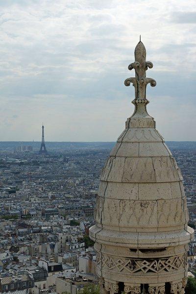 Paris vom Dach der Sacre Coeur