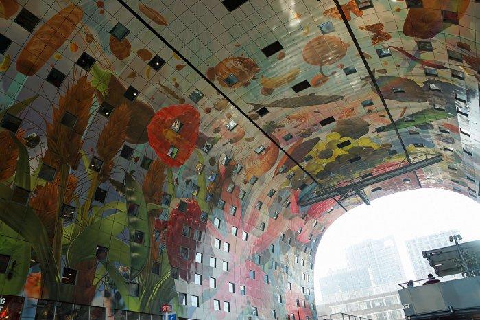 Innengestaltung der Rotterdamer Markthalle