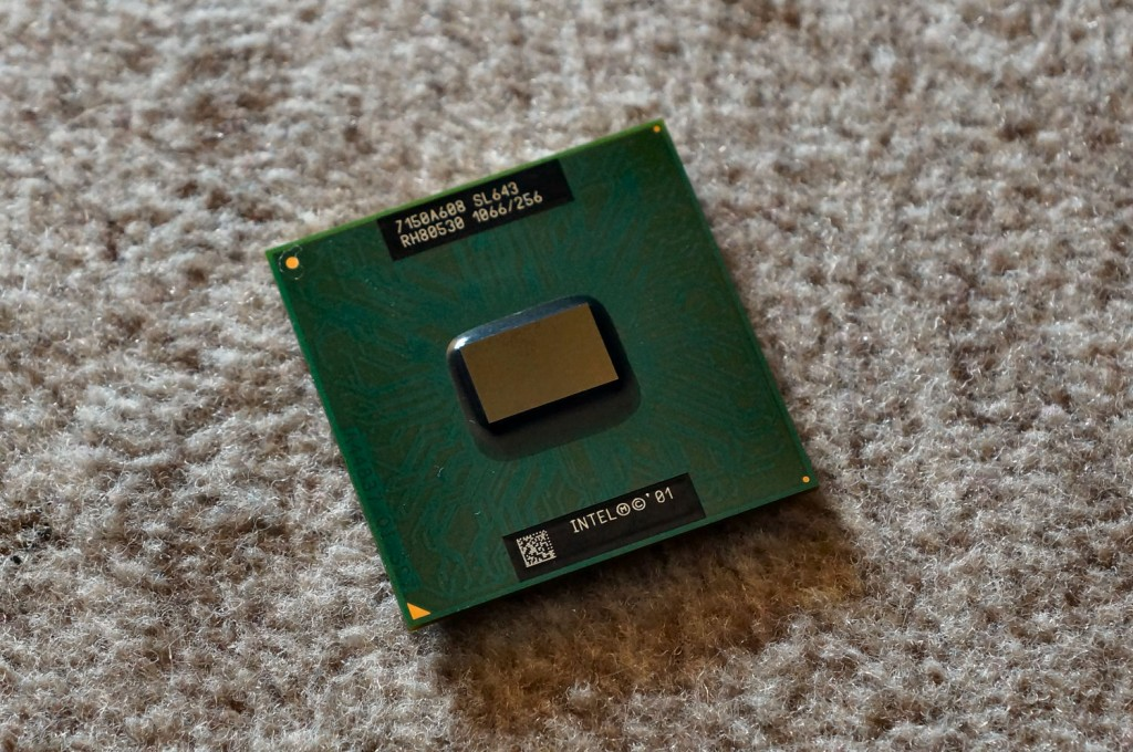 Alter Intel-Prozessor aus dem Jahr 2001