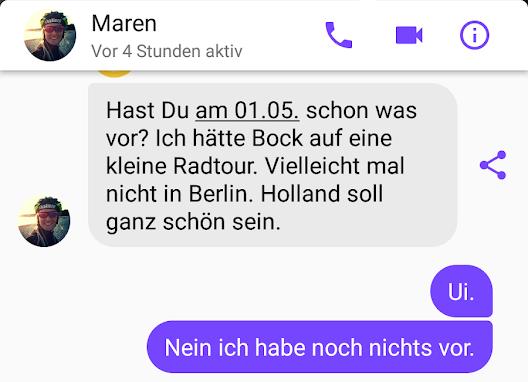 Nachricht von Maren