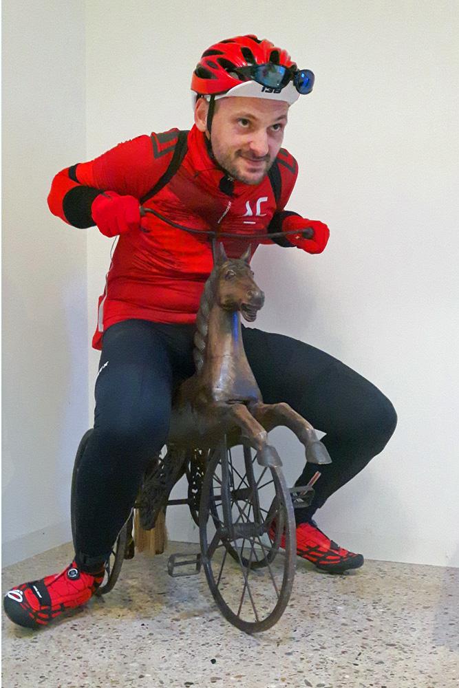 Ich bin soweit. Das Pferd ist gesattelt!